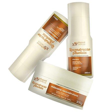 Kit Reconstrução Absoluta Shampoo + Condicionador + Máscara 300g