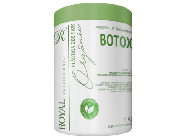 Botox Capilar Plástica Dos Fios Orgânic Royal Professional 1000g