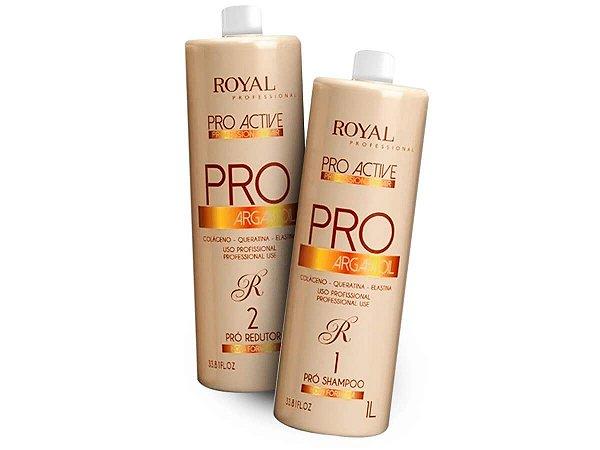 Escova Progressiva Pro Active Argan Oil Royal 2x1000ml