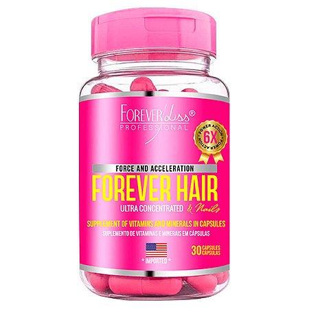 Forever Liss Crescimento Capilar Forever Hair 30 Cápsulas