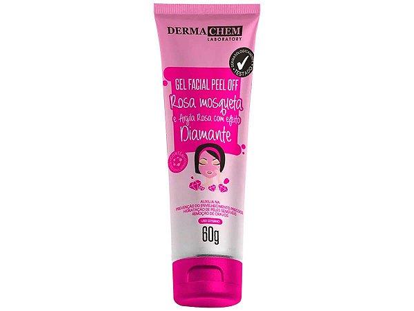 Gel Facial Rosa Mosqueta E Argila Rosa Dermachem 60g