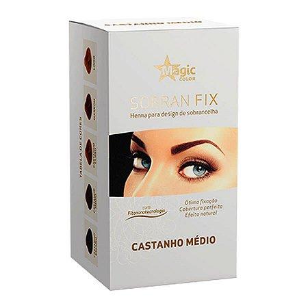 Magic Color Henna Para Sobrancelha Castanho Médio Sobran Fix