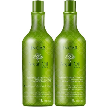 Inoar Argan Oil System Shampoo + Condicionador 2x1000ml