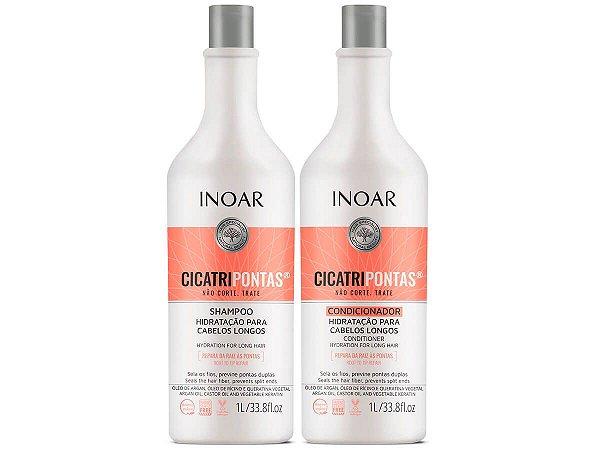 Inoar Cicatripontas Cabelos Longos Shampoo + Condicionador 2x1000ml