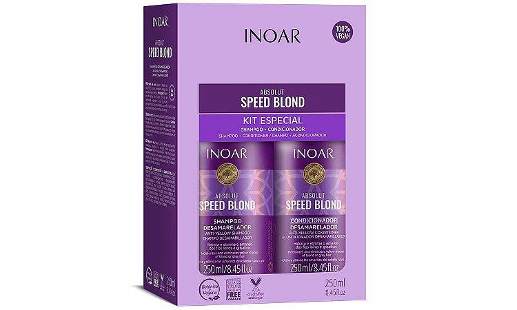 Inoar Kit Absolut Speed Blond Duo 250ml Matizador