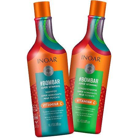Inoar Kit Bombar Com Vitamina C Shampoo + Condicionador 2x1000ml