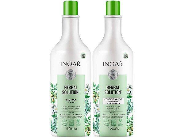 Inoar Kit Herbal Shampoo + Condicionador Sem Sal 2x1000ml