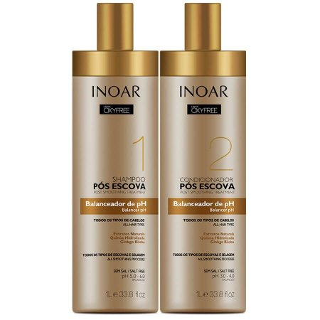 Inoar Kit Pós Escova Shampoo + Condicionador Oxyfree 2x1000ml