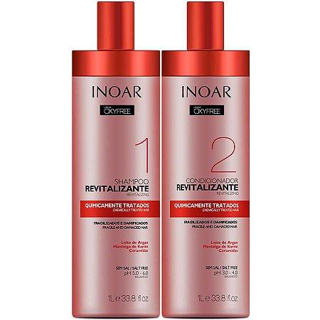 Inoar Kit Quimicamente Tratados Shampoo + Condicionador Oxyfree 2x1000ml