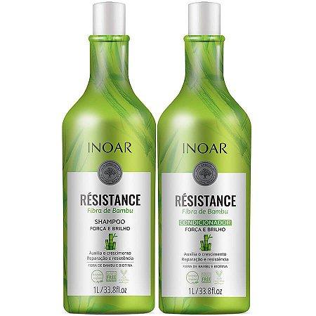 Inoar Kit Shampoo + Condicionador Resistance Bambu Litro