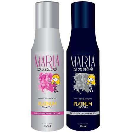 Kit Platinum Blond Maria Escandalosa 2x150ml
