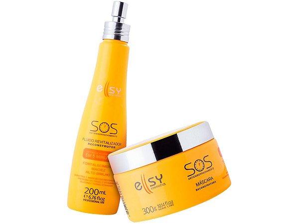 Kit Sos Reconstrutor Antiemborrachamento Ellsy Cosmetics