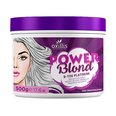 Máscara Btox Platinum Power Blond Oxillis 500g