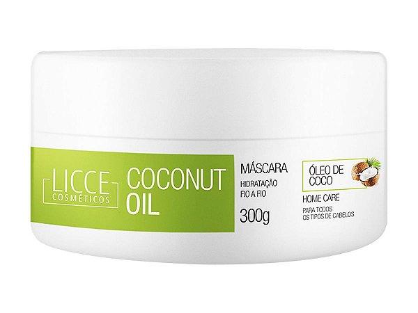 Máscara Hidratante Coconut Oil 300g - Licce Cosméticos