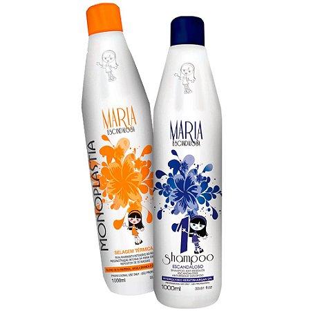 Kit Shampoo Antirresíduo + Selagem Monoplastia Maria Escandalosa 1000ml