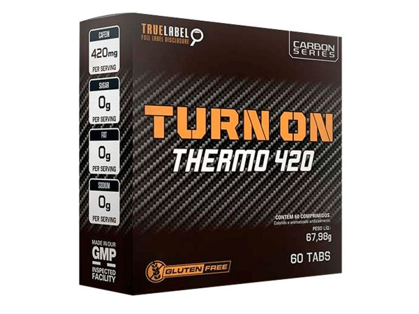 Termogênico Carbon Turn On 420mg Nos 60 Comprimidos