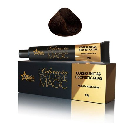 Magic Color Tintura Exclusive 4.77 Castanho Médio Marrom Intenso 60g