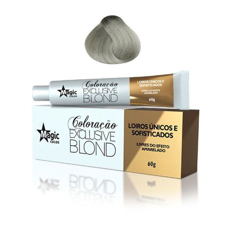 Magic Color Tintura Exclusive Blond 11.13 Loiro Platino Mate Intenso 60g