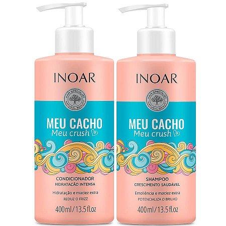 Inoar Kit Shampoo + Condicionador Meu Cacho Meu Crush 400ml