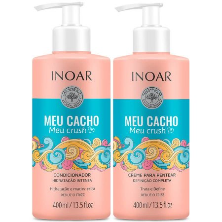 Inoar Kit Condicionador + Leave-in Meu Cacho Meu Crush 400ml