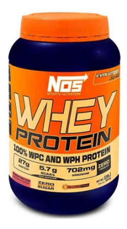 Whey Protein Evolution Iogurte De Morango Nos Nutrition 900g