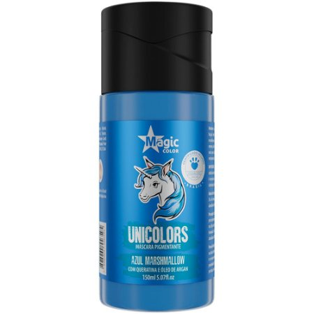 Matizador Capilar Unicolors Azul Marshmallow Magic Color 150ml