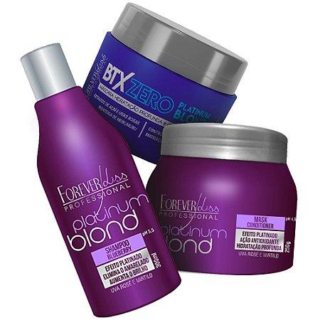 Forever Liss Kit Platinum Blond Manutenção + Botox Zero