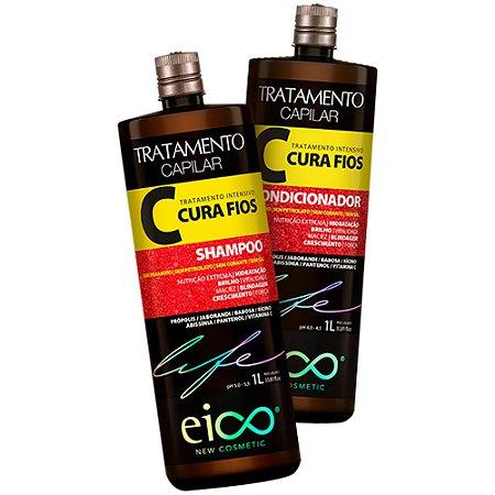 Kit Eico Life Cura Fios Shampoo + Condicionador 1000ml