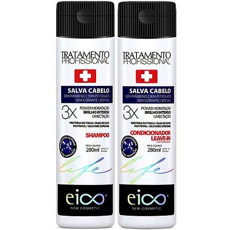 Kit Eico Salva Cabelo Shampoo + Condicionador 280ml