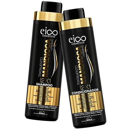Kit Eico Shampoo + Condicionador Tratamento Mandioca 800ml