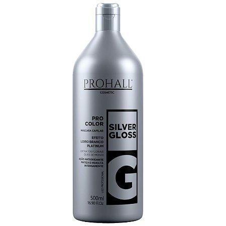 Máscara Matizador Loiro Branco Silver Gloss Prohall 500ml