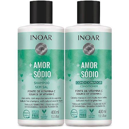 Kit Inoar Shampoo + Condicionador + Amor - Sódio 400ml