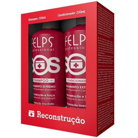 Kit Duo Sos Shampoo + Condicionador Felps 2x250ml