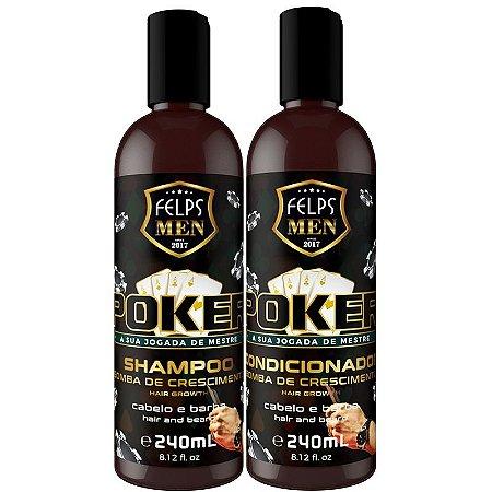 Felps Shampoo + Condicionador Barba Cabelo Poker Men