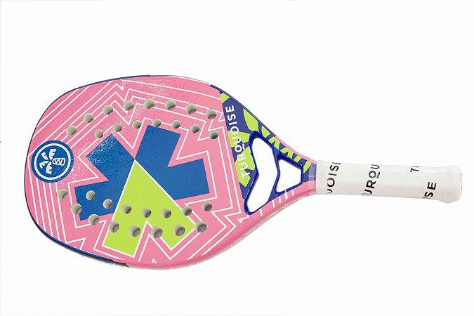 Raquete de Beach Tenis Turquoise Pro Kappa 4.1 PINK