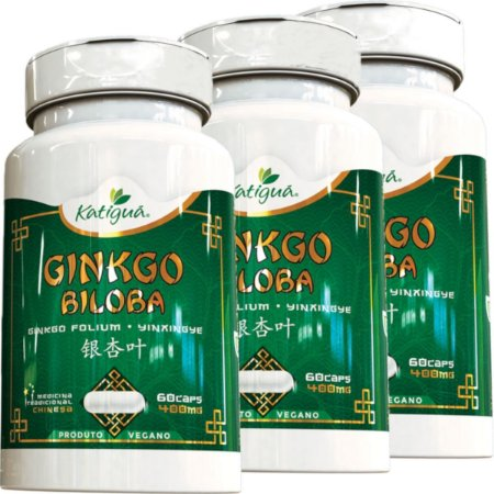 Kit 3 Ginkgo Biloba Katigua 60 Cápsulas