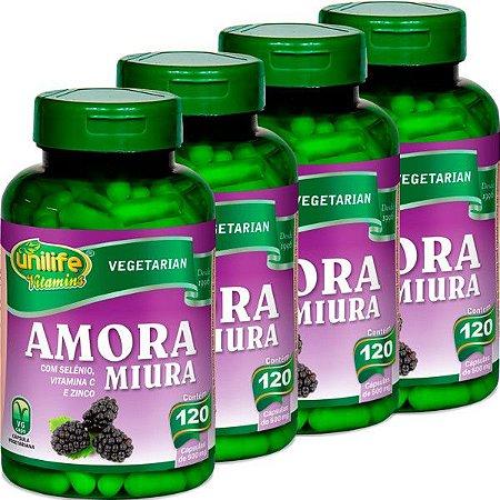 Kit 4 Amora Miura com Vitaminas Unilife 120 capsulas