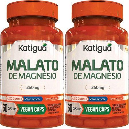 Kit 2 Malato De Magnesio 60 Cápsulas KATIGUA