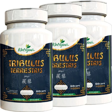 Kit 3 Tribulus Terrestris Jili 400 mg 60 Capsulas Katigua
