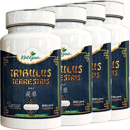 Kit 4 Tribulus Terrestris Jili 400 mg 60 Capsulas Katigua