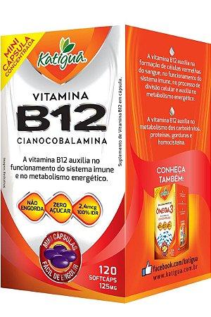 Vitamina B12 Cianocobalamina 120 Capsulas Minicapsulas Softgel Katigua