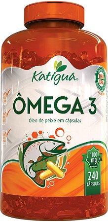 Omega 3 1000 mg 240 cápsulas Óleo de Peixe Katigua