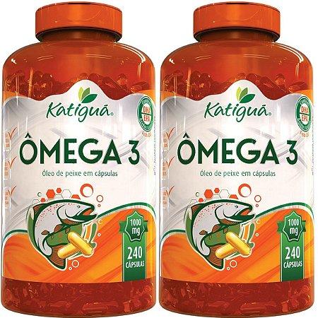 Kit 2 Omega 3 1000 mg 240 cápsulas Óleo de Peixe Katigua
