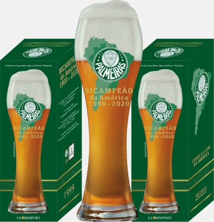 Copo Palmeiras Weiss Beer - 670 ml