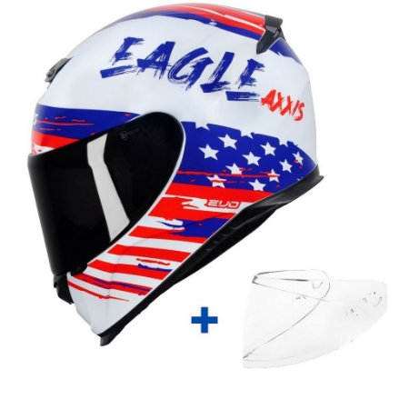 Capacete Axxis Eagle Independence + Viseira Fumê