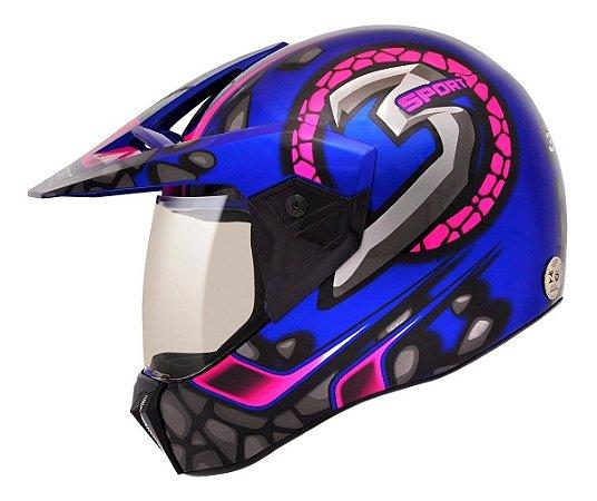 Capacete Moto Bieffe 3 Sport Stones - 3 Em 1