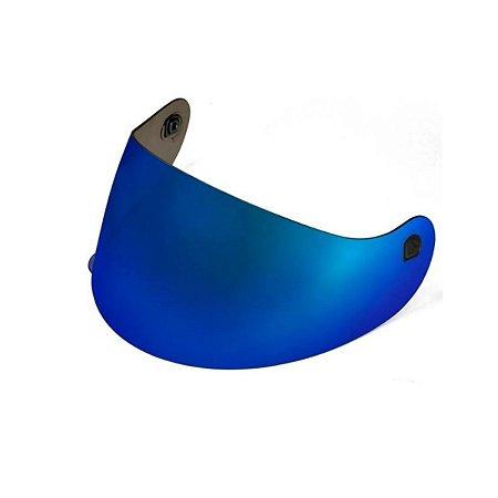 Viseira Azul Metalizada para Capacete Spike