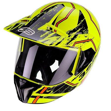 Capacete Bieffe 3 Sport Drax Amarelo