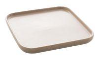 Petisqueira Porcelana P Quadrada Nordica Cinza Matt - 3un