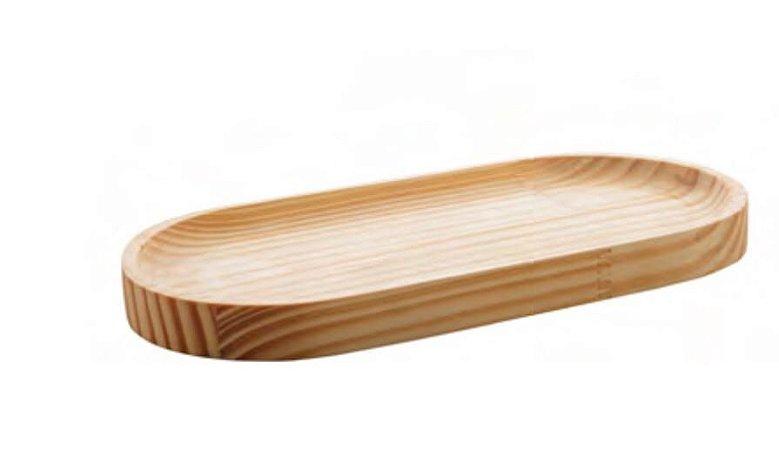 Tábua  oval madeira pinos M